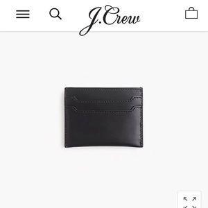 ✨ JCrew Italian leather card case ✨